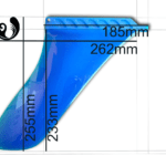 Blue river flexible SUP fin