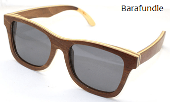 Wooden grey polarised sunglasses